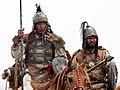 Closeup of Mongolian reenactors at Khaan Quest 07.jpg