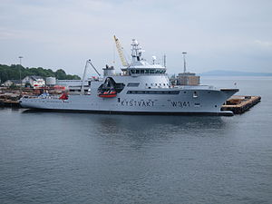 Coast Guard Vessel KV Bergen in Horten, starboard side.JPG