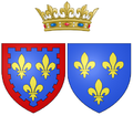 Coat of arms of Marie Thérèse of France, Madame Royale, as Duchess of Angoulême.png