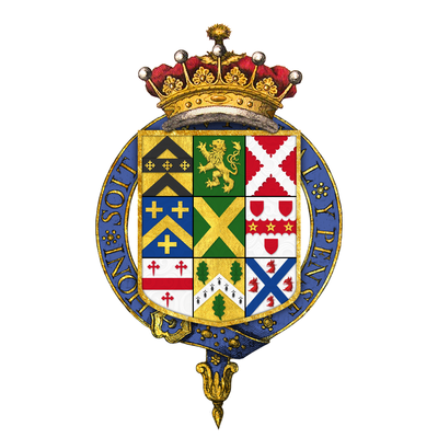 Quartered arms of Robert Walpole, 1st Earl of Orford, KG Coat of arms of Robert Walpole, 1st Earl of Orford, KG, KB, PC.png