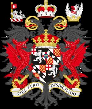 Jamie Spencer-Churchill, 12th Duke of Marlborough - Image: Coat of arms of the duke of Marlborough
