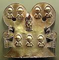 Colombia, pettorale da tumbaga, cultura muisca, 600-1600 dc. 01.JPG