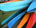 Colored Watercraft Canoes Kayaks, Homebush Sydney (3577398057).jpg