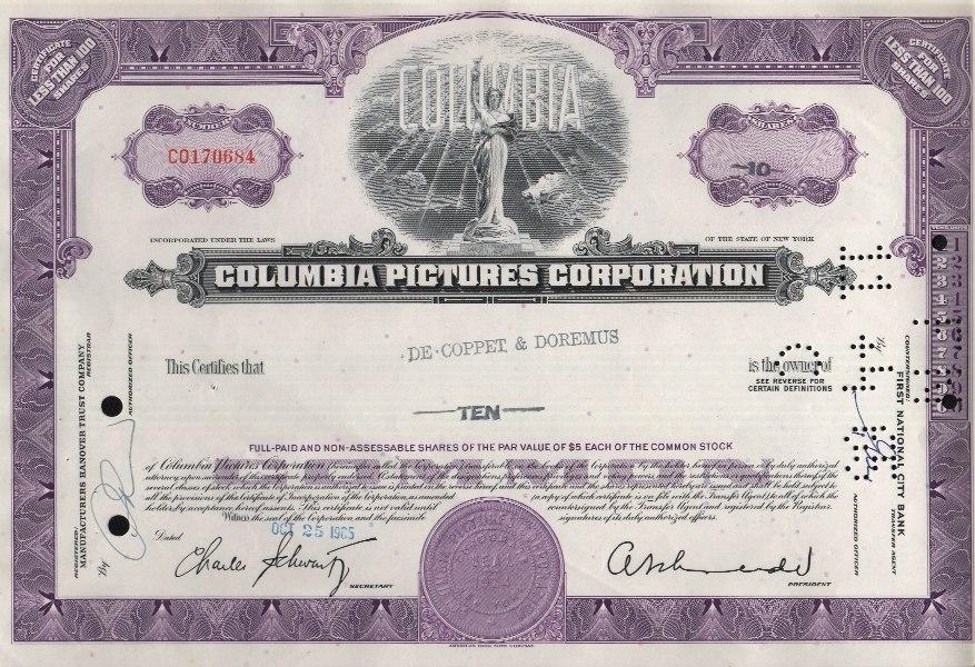 Columbia Pictures Aktie