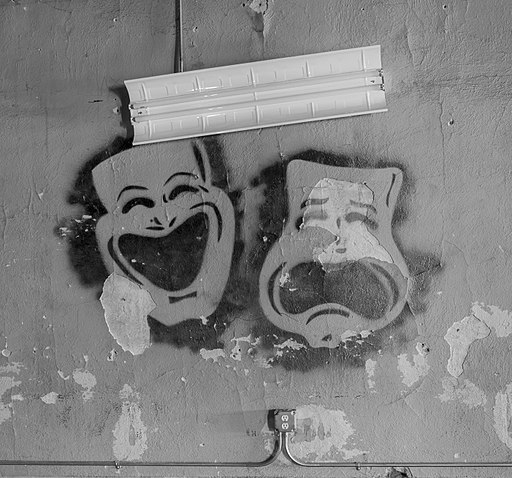 Comedy and tragedy masks from the Princess Theatre, Decatur, AL image by Marjorie Kaufman