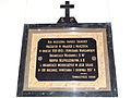 Commemorative plaque of Holy Cross church in Warsaw - 07.jpg