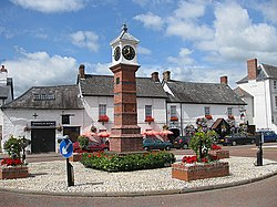 Commemorative town clock, Usk - geograph.org.uk - 1425897
