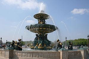 Fountains in Paris - Fontaines de la Concorde  (1836-1840)