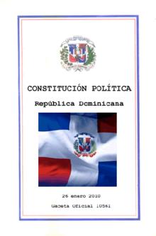 Resultado de imagen para constitución de la república dominicana 2010