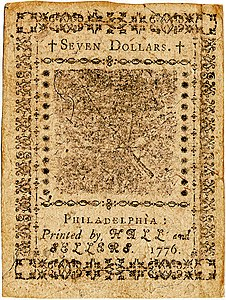 Continental Currency $7 banknote reverse (February 17, 1776).jpg
