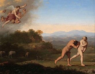 Cornelis van Poelenburgh - Expulsion from Paradise