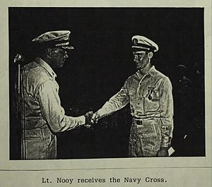 Cornelius N. Nooy - Image: Cornelius N. Nooy (US Navy) is awarded the Navy Cross, in 1944