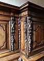 Coro ligneo forse dai carmelitani di somma lombarda, xvii secolo 02 bambocci.jpg
