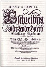 Cosmographia title page 1544