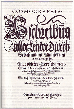 Sebastian Münster - Image: Cosmographia titelblatt der erstausgabe