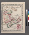 County map of Nova Scotia, New Brunswick, Cape Breton, and Prince Edward's Islands; City and harbor of Halifax (inset). NYPL1510793.tiff
