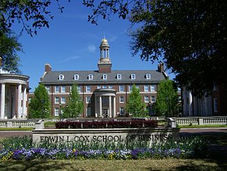 Cox School of Business - Main building of the Edwin L. Cox School of Business at SMU in Dallas, Texas.