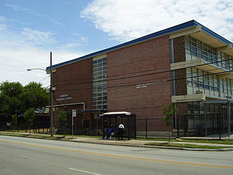Mickey Leland College Preparatory Academy for Young Men - Crawford Elementary School, which was previously the site of the YMCPA