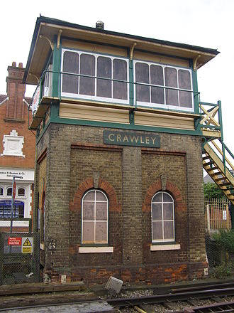 Crawley - Crawley signal box in 2008