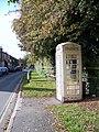 Cream Telephone Box, Molescroft - geograph.org.uk - 590763.jpg