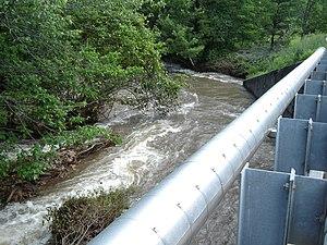 Nesquehoning Mountain - Image: Creek flood 1