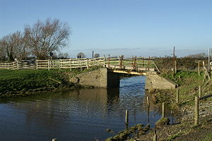 Glastonbury Canal - A bridge over the Cripps River, formerly part of the Glastonbury Canal