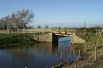Glastonbury Canal - A bridge over the Cripps River, formerly part of the Glastonbury Canal