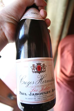 English: Crozes Hermitage (red wine) Paul Jabo...