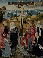 Kruisiging met heiligen en stichters