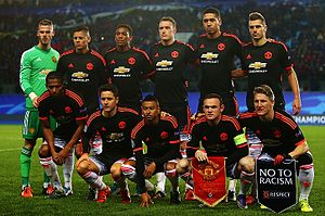 2015–16 Manchester United F.C. season - Manchester United players before the game against CSKA Moscow.