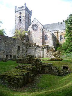 Culross Abbey monastery in Fife, Scotland, UK