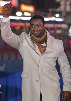Curtis Martin - Martin at a Times Square pep rally for the Jets in January 2010 prior to the AFC Championship Game