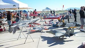 "Coachella Valley Radio Control Club - Pit area of the club during the 2009 ""Best In The West"" event. View is to the south"
