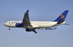 Airbus A330-200 från Cyprus Airways