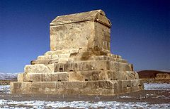 Monumentet som menes at være Kyros den stores grav