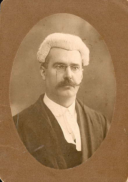 D. D. Sheehan BL as barrister 1911, in wig and gown. D. D. Sheehan B.L. - 1911.jpg