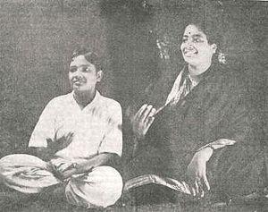 D. K. Pattammal - DK Pattammal (right) in concert with her brother, D. K. Jayaraman; circa early 1940s.