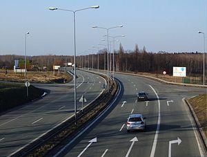 National road 81 (Poland) - Image: DK 81 Ober Lazisk