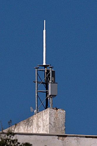 DORIS (geodesy) - The UHF transmitting antenna of DORIS ground station at Dionysos, Greece