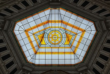 Transparent roof of Warsaw University of Technology Main Building