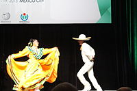 Dancing at the Wikimania 2015 Opening Ceremony IMG 7636.JPG
