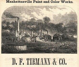 Manhattanville, Manhattan - Daniel F. Tiemann's paint factory