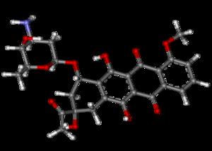 Daunorubicin ball-and-stick.png