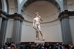 Dünyaca ünlü Michelangelo'nun Davut Heykeli.