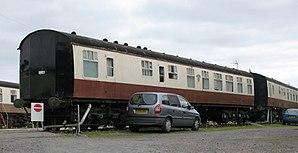 Dawlish Warren railway station - Modern Camping coach Bristol