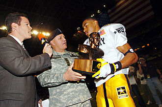 DeSean Jackson - Jackson receiving the 2005 Pete Dawkins MVP trophy after the U.S. Army All-American Bowl