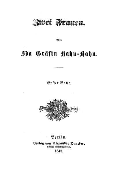 File:De Zwei Frauen (Hahn-Hahn).djvu