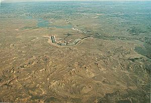 View northeast across the Deckers coal mine an...