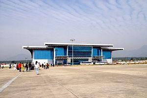 Dehradun Airport - Airside view of the terminal