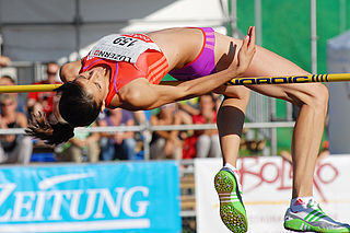 Mirela Demireva Bulgarian high jumper